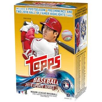 2018 Topps Update Series Baseball 10-Pack Blaster Box