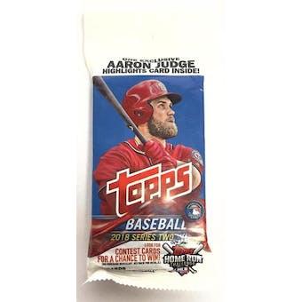 2018 Topps Series 2 Baseball Jumbo Value 36-Card Pack