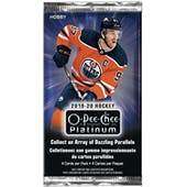2019/20 Upper Deck O-Pee-Chee Platinum Hockey Hobby Pack