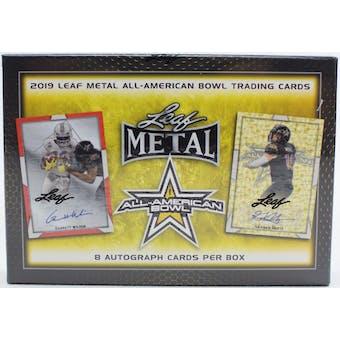 2019 Leaf Metal All-American Football Hobby Box