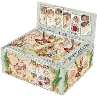 2019 Topps Allen & Ginter Baseball 24-Pack Retail Box