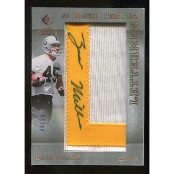 2007 Upper Deck SP Rookie Threads Rookie Lettermen Gold #141 Zach Miller Autograph /99
