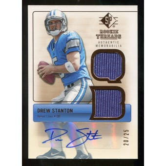 2007 Upper Deck SP Rookie Threads Rookie Threads Autographs #RTDS Drew Stanton /25