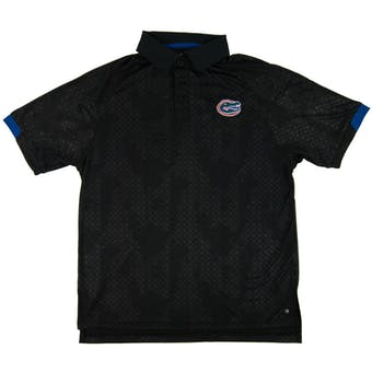Florida Gators Colosseum Black Gridlock Chiliwear Performance Polo Shirt (Adult L)
