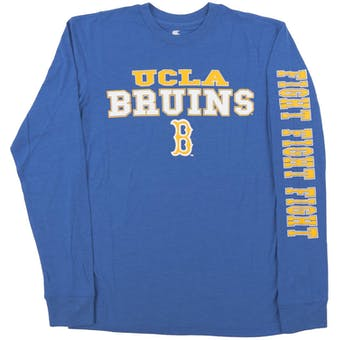 UCLA Bruins Colosseum Blue Game Changer Dual Blend Long Sleeve Tee Shirt (Adult Medium)