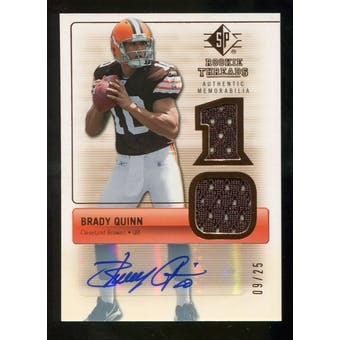 2007 Upper Deck SP Rookie Threads Rookie Threads Autographs #RTBQ Brady Quinn Autograph /25