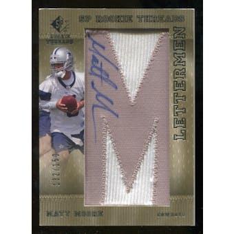 2007 Upper Deck SP Rookie Threads Rookie Lettermen Silver #118 Matt Moore Autograph /150