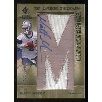 2007 Upper Deck SP Rookie Threads Rookie Lettermen Silver #118 Matt Moore Autograph /150