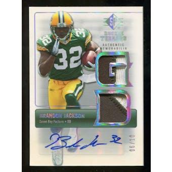 2007 Upper Deck SP Rookie Threads Rookie Threads Autographs Holofoil #RTBJ Brandon Jackson Autograph 6/10