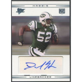 2007 Topps Performance #127 David Harris Rookie Auto