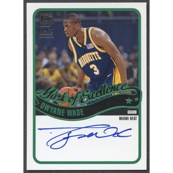 2003/04 Topps #DWY Dwyane Wade Mark of Excellence Rookie Auto