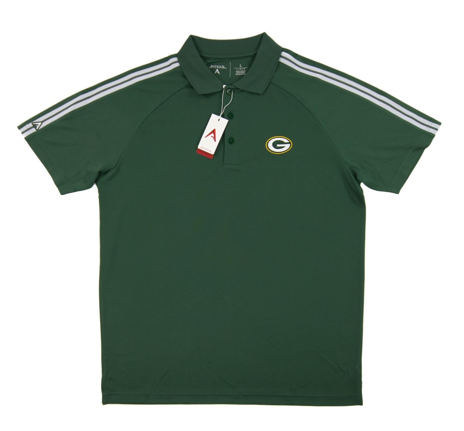 Green Bay Packers Antigua Green Force Performance Polo Da Card World