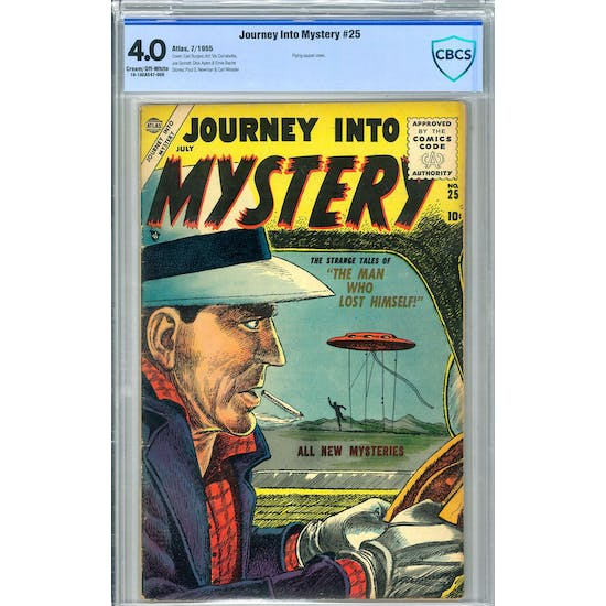 Journey Into Mystery #25 CGC 4.0 (C-OW) *19-1AEA547-008*