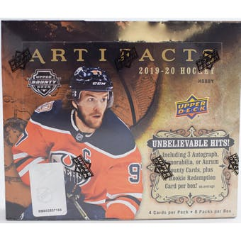 2019/20 Upper Deck Artifacts Hockey Hobby 10-Box Case- DACW Live 31 Team Random Break #4