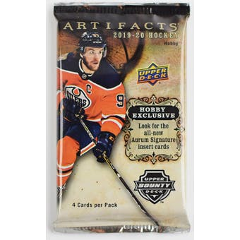2019/20 Upper Deck Artifacts Hockey Hobby Pack