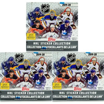 2019/20 Topps NHL Hockey Sticker Collection Box (Lot of 3)