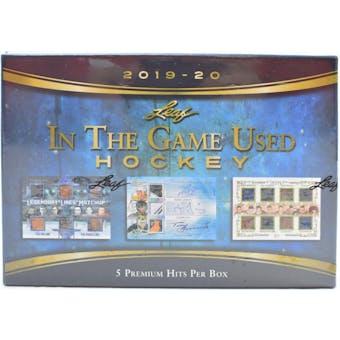 2019/20 Leaf In The Game Used Hockey Hobby Box