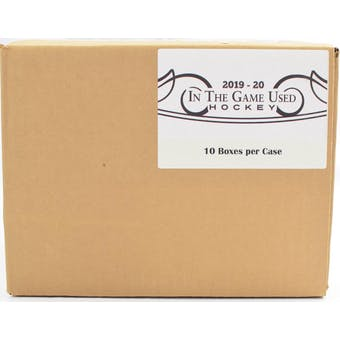 2019/20 Leaf In The Game Used Hockey Hobby 10-Box Case