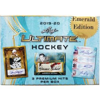 2019/20 Leaf Ultimate Emerald Edition Hockey Hobby Box