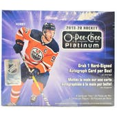 2019/20 Upper Deck O-Pee-Chee Platinum Hockey Hobby Box
