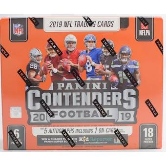 2019 Panini Contenders Football 6-Box- DACW Live 32 Spot Random Team Break #2