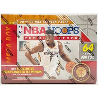 2019/20 Panini Hoops Premium Stock Basketball Mega Box (64 Cards) (Green Ice)