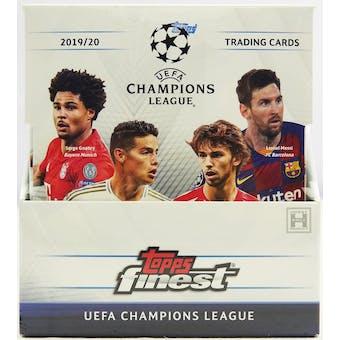 2019/20 Topps Finest UEFA Champions League Soccer Hobby Box