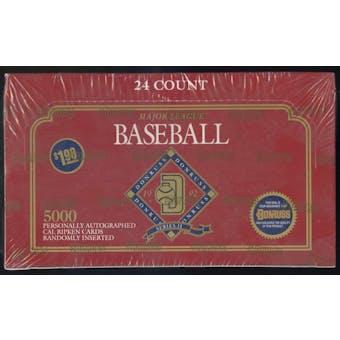 1992 Donruss Series 2 Baseball Jumbo Box