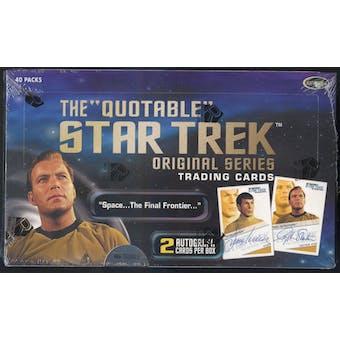 Star Trek The Quotable Original Series Trading Cards Box (Rittenhouse 2004)