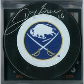 Danny Gare Autographed Buffalo Sabres Throwback Hockey Puck