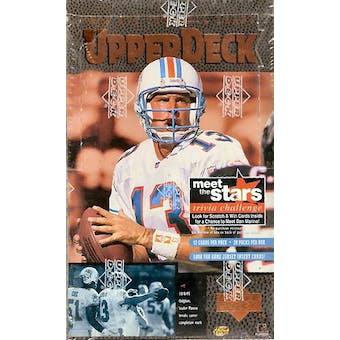 1996 Upper Deck Football Hobby Box