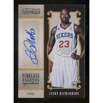 2012/13 Panini Timeless Treasures Timeless Talents Signatures #2 Jason Richardson Autograph /99