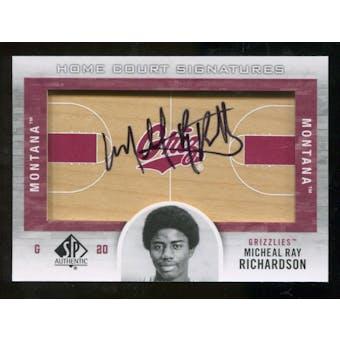 2012/13 Upper Deck SP Authentic Home Court Signatures #MR Micheal Ray Richardson C Autograph