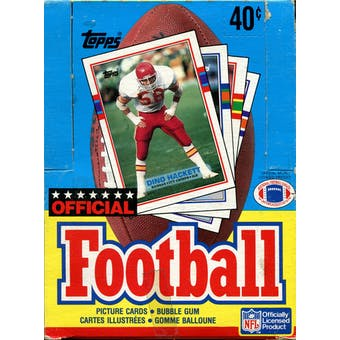 1989 Topps / O-Pee-Chee Football Wax Box