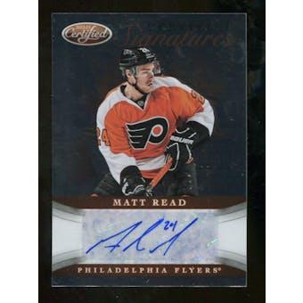 2012/13 Panini Certified Signatures #48 Matt Read Autograph