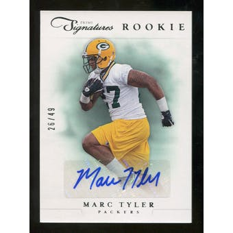 2012 Panini Prime Signatures Autographs Silver #206 Marc Tyler Autograph /49