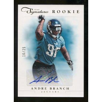 2012 Panini Prime Signatures Autographs Gold #230 Andre Branch Autograph /25
