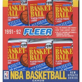 1991/92 Fleer Series 2 Basketball Jumbo Box (Reed Buy)