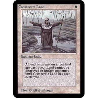 Magic the Gathering Alpha Single Consecrate Land - SLIGHT PLAY (SP)