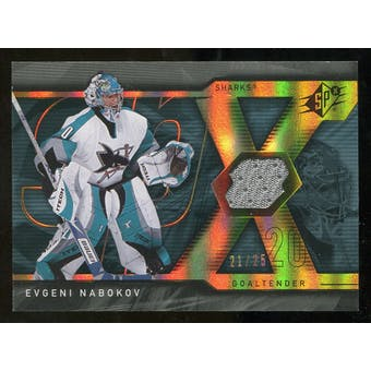 2007/08 Upper Deck SPx Spectrum #15 Evgeni Nabokov Jersey /25
