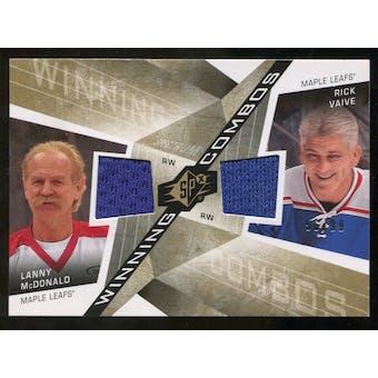 2008/09 Upper Deck SPx Winning Combos Spectrum #WCMV Lanny McDonald/Rick Vaive /99