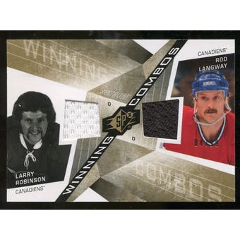 2008/09 Upper Deck SPx Winning Combos Spectrum #WCRL Rod Langway/Larry Robinson /99