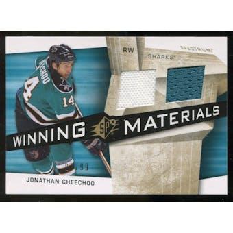 2008/09 Upper Deck SPx Winning Materials Spectrum #WMCH Jonathan Cheechoo /99