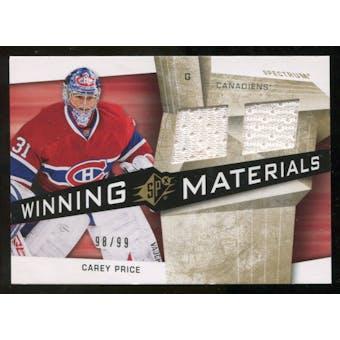 2008/09 Upper Deck SPx Winning Materials Spectrum #WMCP Carey Price /99