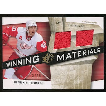 2008/09 Upper Deck SPx Winning Materials Spectrum #WMHZ Henrik Zetterberg /99