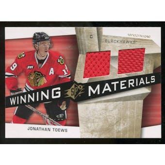 2008/09 Upper Deck SPx Winning Materials Spectrum #WMJT Jonathan Toews /99