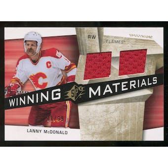 2008/09 Upper Deck SPx Winning Materials Spectrum #WMLM Lanny McDonald /99