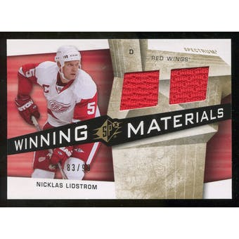 2008/09 Upper Deck SPx Winning Materials Spectrum #WMNL Nicklas Lidstrom /99