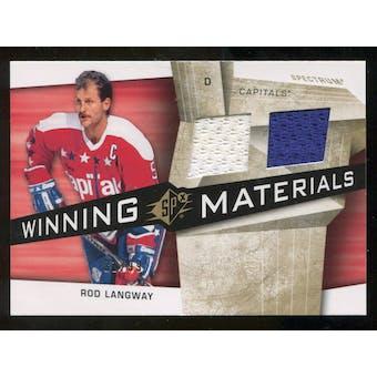 2008/09 Upper Deck SPx Winning Materials Spectrum #WMRL Rod Langway /99