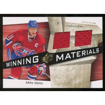2008/09 Upper Deck SPx Winning Materials Spectrum #WMSK Saku Koivu /99